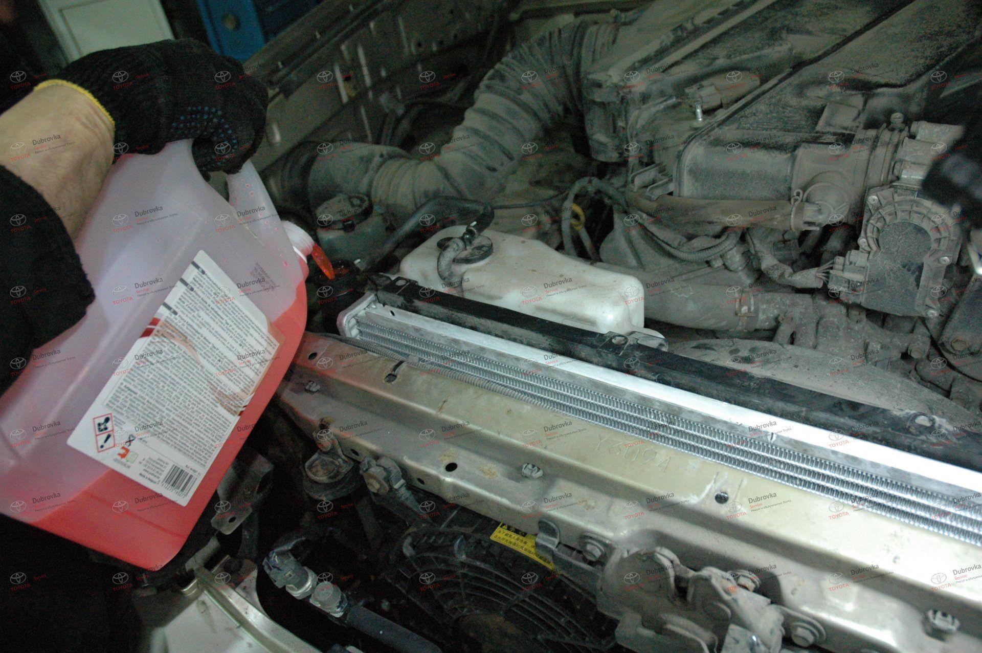 Toyota Land Cruiser Prado 120. Система охлаждения. Замена радиатора охлаждения двигателя